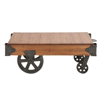 Wheelbarrow Industrial Coffee Table