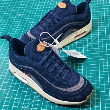Levi's X Nike Air Max 87 Denim Sport Running Shoes - Best Online Sale