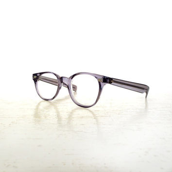 Vintage 50s Eyeglasses / Smoke Gray Plastic / 1950s Eyeglasses / American Optical