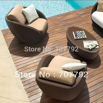 Roberti St. Tropez outdoor furniture rattan Sofa and Lounge Chair