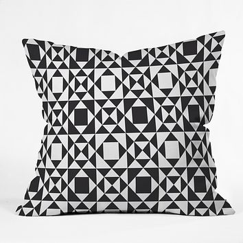 Heather Dutton Rhythm Black Throw Pillow
