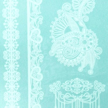 White Lace Temporary Tattoos code 1
