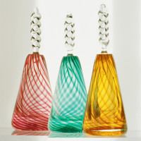 Twist Perfume Bottle by Mark Rosenbaum: Art Glass Perfume Bottle | Artful Home