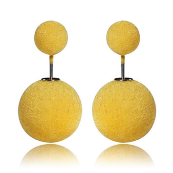 Gum Tee Mise en Style Tribal Earrings - Velvet Yellow