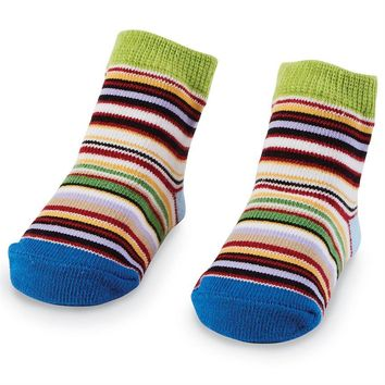 MUD PIE MULTI-COLORED STRIPE SOCKS