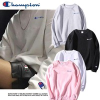 champion stereoscopic embroidery small logo tops sweater sweatshirts