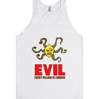 Every Villain Is Lemons-Unisex White Tank
