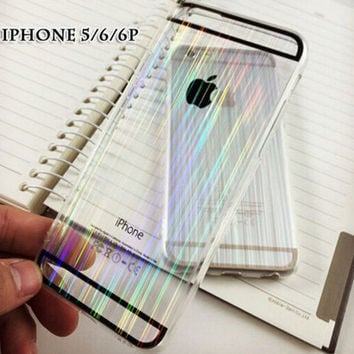 Unique Laser Transparent iPhone 5s 6s 6 Plus creative cases