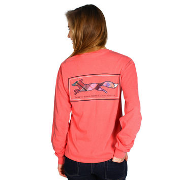 Longshanks Long Sleeve Tee Shirt in Watermelon by Country Club Prep