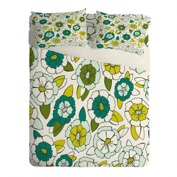 Heather Dutton Tropical Bloom Sheet Set Lightweight