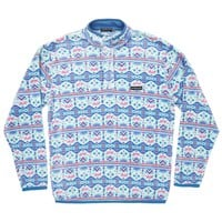 Dorado Fleece Pullover in Teal and Pink by Southern Marsh - FINAL SALE