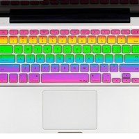 "Kuzy - Rainbow Keyboard Cover Silicone Skin for MacBook Pro 13"" 15"" 17"" (with or w/out Retina Display) iMac and MacBook Air 13"" - Rainbow:Amazon:Computers & Accessories"
