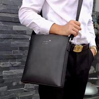 MONT BLANC MEN LEATHER INCLINED SHOULDER BAG