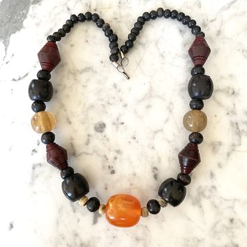 1940s Bakelite and resin necklace, Paris