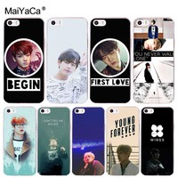 MaiYaCa Bts bangtan boys Taehyung Kpop music Transparent Cover Case for iPhone X 8 7 6 6S Plus 5 5S SE 4S Coque Shell