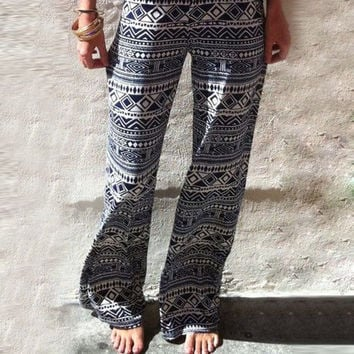 2015 New Arrival Women Fashion Beach  Long Pants High Waist Trouser Casual Loose Style Hot Sell = 1667558596