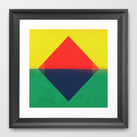 Red Triangle Framed Art Print by Amelia Senville