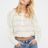Free People All Striped Up Pullover Top