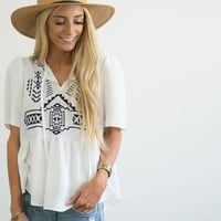Kami Embroidered Top