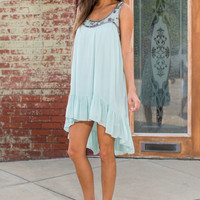 Bead It And Weep Dress, Sage