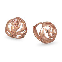 Rose Cut Out Earrings