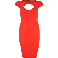 River Island Womens Red sweetheart cut out bodycon dress
