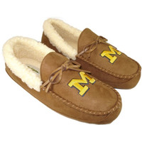 The M Den - Campus Footnotes University of Michigan Tan Canoe Moccasin S