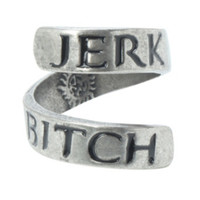 Supernatural Jerk Bitch Wrap Ring