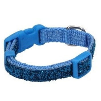 DOG COLLARS & LEADS - NYLON - 6235 12 BUZ 3/8 COLLAR - BLUE SPARKLE LIL PALS - COASTAL PET PRODUCTS, INC. - UPC: 76484623516 - DEPT: DOG PRODUCTS