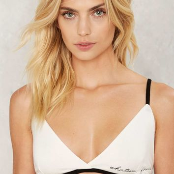 Whatever Forever Embroidered Bra