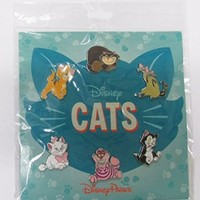 Disney Pins HKDL Disney Cats 6 Pin Booster Set - Marie Cheshire Figaro Lady Oliver Si and Am