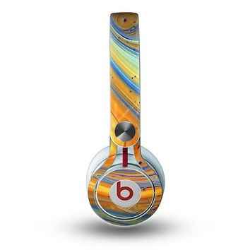 The Colorful Wet Paint Mixture Skin for the Beats by Dre Mixr Headphones