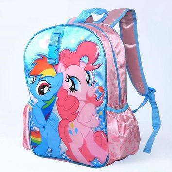 Cute Cartoon Backpacks For Girls My Little Pony Backpack Schoolbag For Kids Children Christmas Gift Bags