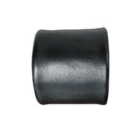 Essential 2 wide lambskin cuff, black
