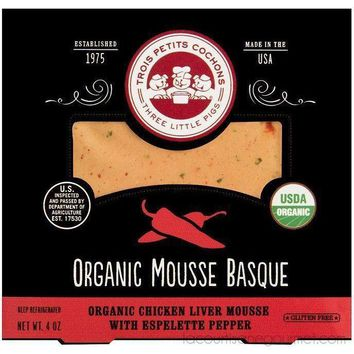 Three Little Pigs -  Organic Mousse Basque Organic Chicken Liver Mousse With Espelette Pepper   4 Oz