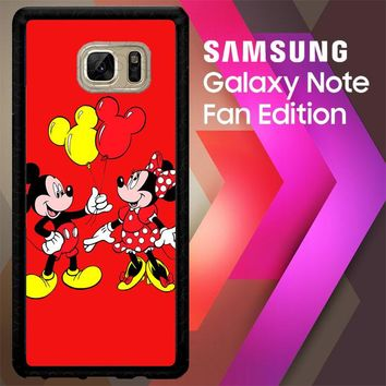 Baloon Love Mickey Minnie Mouse V1574 Samsung Galaxy Note FE Fan Edition Case