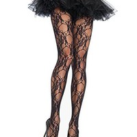 Leg Avenue 9653 Women's Floral Lace Tights Pantyhose