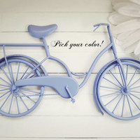 Pick Your Color / Metal Bike Art / Beach Decor / Retro Decor / Bike Decoration / Metal Wall Art / Bicycle Art / Customize Color / Home Decor