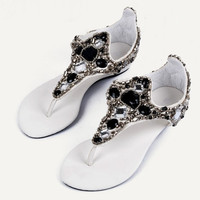 Bohemia Diamond Flat Sandals for Women