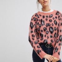 Esprit Animal Print Jumper at asos.com