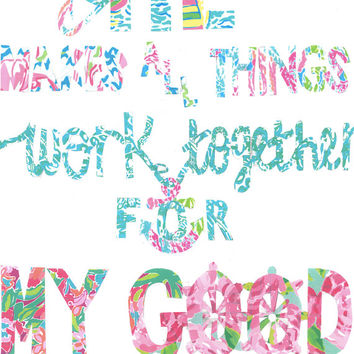 Lilly Pulitzer Quote Print in Glass Float from JustCuteStufff on