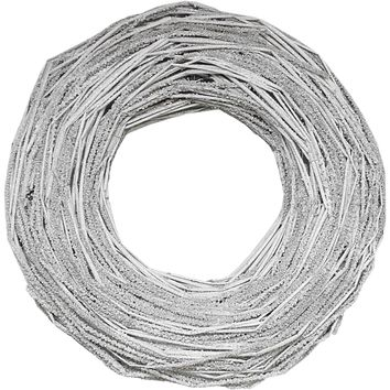 "13"" Glittered Neutral Tones Rustic Artificial Christmas Twig Wreath - Unlit"
