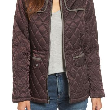 Vince Camuto Mixed Media Quilted Jacket | Nordstrom