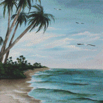 Cross stitch kit by Rosie Brown 'Paradise Island' modern cross stitch