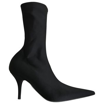 Cloth boots BALENCIAGA Black