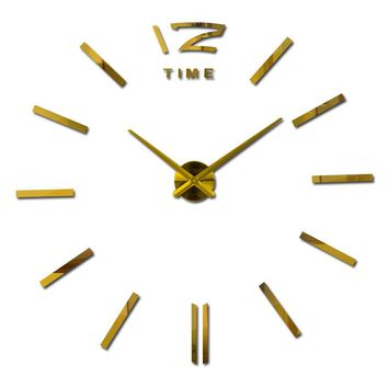 2017 new arrival 3d home decor quartz diy wall clock clocks horloge watch living room metal Acrylic mirror 20 inch