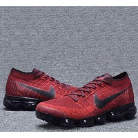 Nike Air VaporMax Flyknit Running Sport Shoes Sneakers Shoes Red