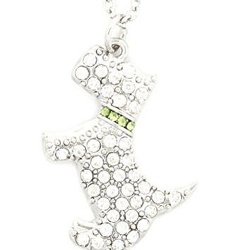Crystal Scottish Terrier Necklace Silver Tone Pet Scottie Dog Pendant NQ62 Fashion Jewelry