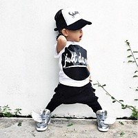 Newborn baby clothes baby boys T-shirt tops + pants sets baby clothes sets baby boy clothes sets