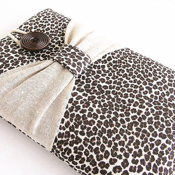 Leopard Kindle case, Sleeve, Kindle fire sleeve cover, nook cover, google nexus 7 case-Bow.